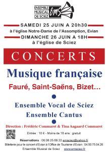 Concerts 25-26 juin 2016