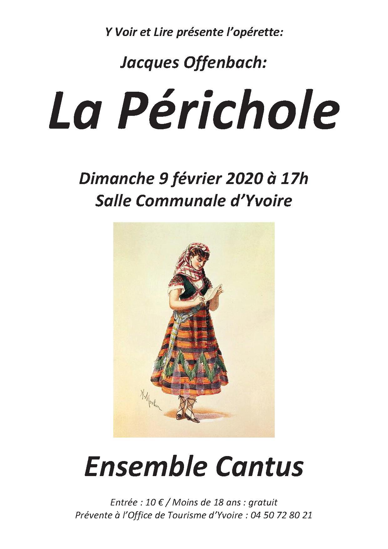 LA PERICHOLE par l'Ensemble Cantus à Yvoire le 9 février