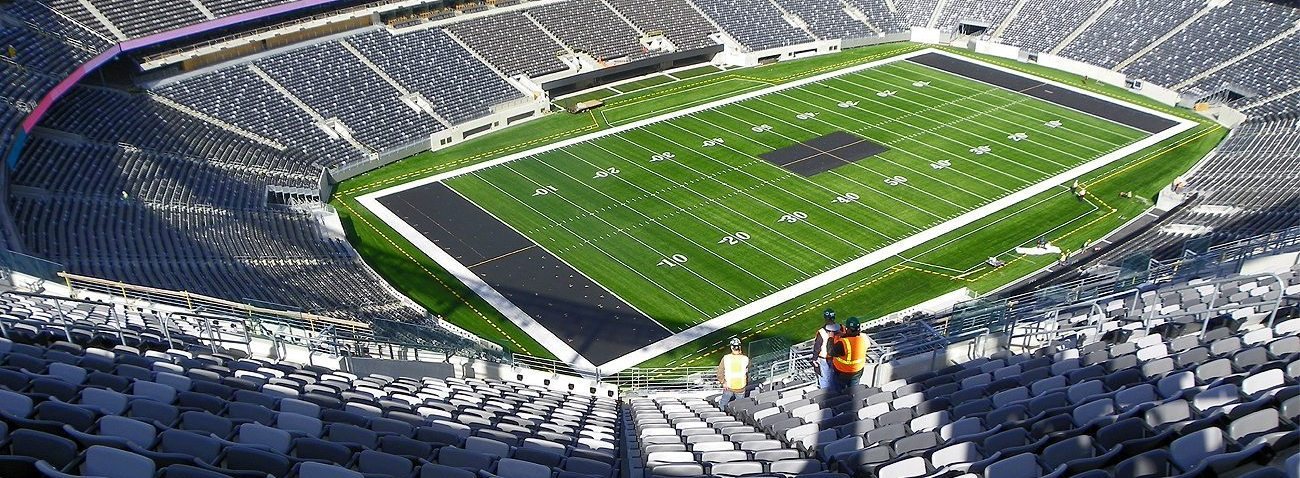Stadium expansion joints by EMSEAL. SJS System at Jets/Giants New Meadowlands Metlife Stadium