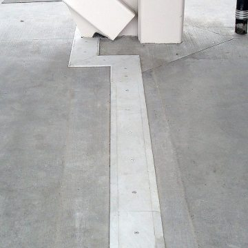 Stadium expansion joint concourse split slab SJS-FP EMSEAL