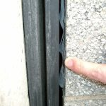 non invasively anchored precompressed sealants install properly at inside corners where strip seals cannot