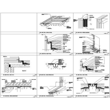 References on the isometric to cross-section and isometric details on a details page show the designers' intent for changes in plane and direction and treatment of materials at transitions between systems. This allows the sub to include for these transitions in his estimate and reduces time-consuming RFI's and the costs of change-orders.