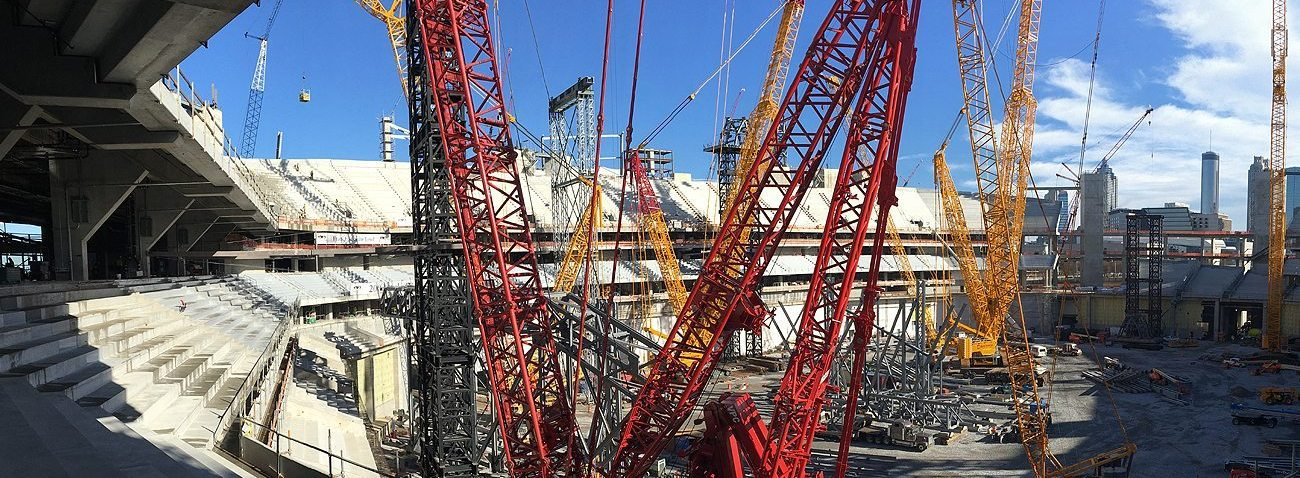 GA Atanta Falcons Mercedes Benz Stadium Expansion Joints EMSEAL SJS System SJS-FR Seismic Colorseal