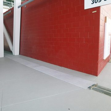 seismic expansion joint installation in stadium concourse SJS-FP Emseal