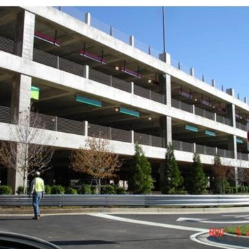 EMSEAL's SJS Seismic Joint System installed in Atlanta's Hartsfield-Jackson International Airport parking deck.