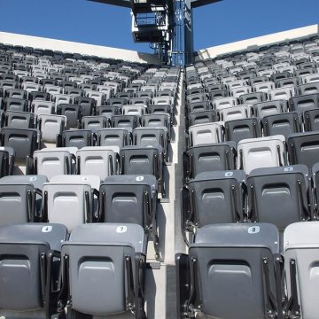 In the bowl, with the seats installed, the expansion joints become almost unnoticeable.