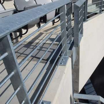 Custom, continuously-coated closure pieces in the SJS SYSTEM were made for each condition. Each of these termination pieces runs up, over down the face of each bowl fascia.