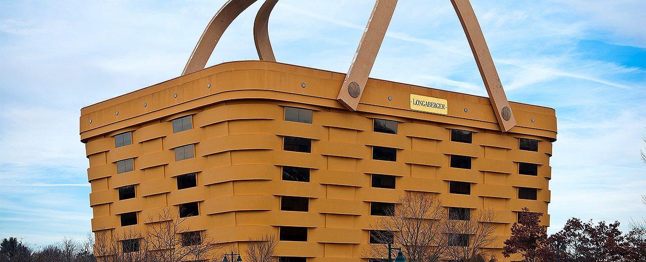 Longaberger Basket HQ, Newark OH. BackerSeal behind liquid sealant in EIFS facade. EMSEAL