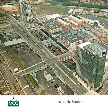 Plaza Expansion Joints: 14 buildings push up through the 11-acre, 7000 space, 6-level parking deck.
