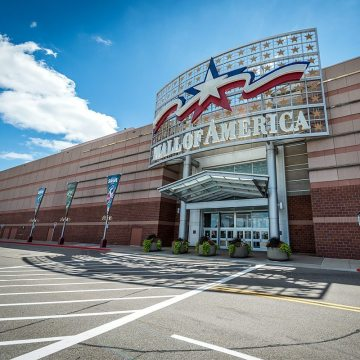 Mall of America EIFS facade sealed with Backerseal and liquid sealant
