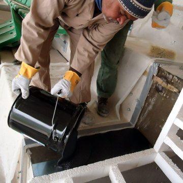 EMCRETE elastomeric nosing material poured into blockouts.