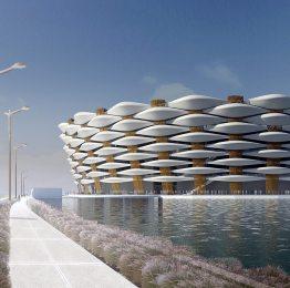 SJS Seismic Joint System installed at Basra Sports City Soccer Stadium