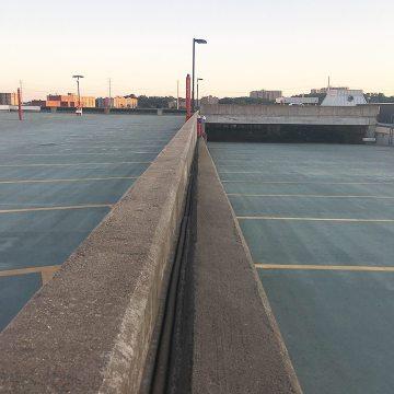 VA USPTO Parking Garage Expansion joints horizontal colorseal parapets