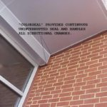 Non-invasively anchored precompressed sealant at urtainwall to brick insde corner plane change