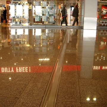 GDR airport floor expansion joints Dusseldorf airport Migutrans FS 110 duty free Migua EMSEAL