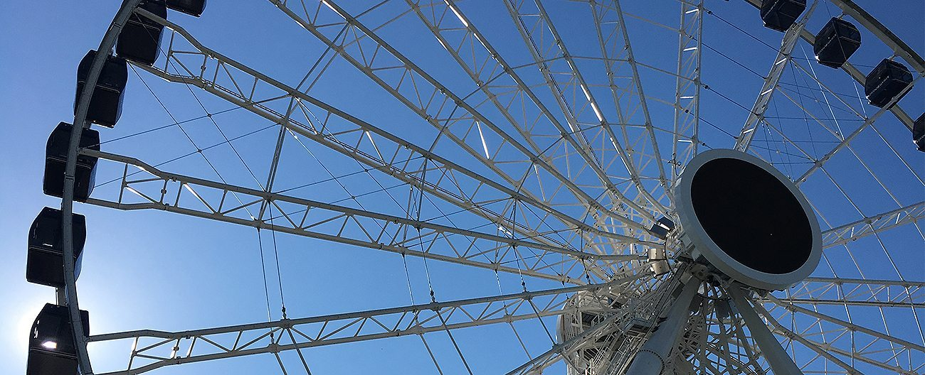 The Ferris Wheel at Chicago's Navy Pier where Seismic Colorseal was installed.