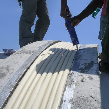 COH Horizontal Colorseal curved concrete Jamaica EMSEAL