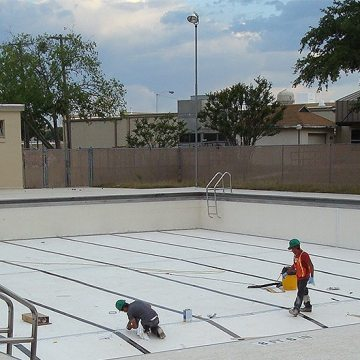 Swimming pool expansion joints replaced with Submerseal at Fort Hood