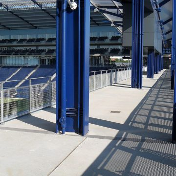Soccer stadium expansion joints SJS System with standpipe Emseal