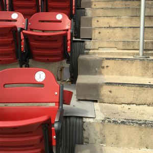 Stadium expansion joints Emseal SJS in St Louis Cardinals Busch stadium