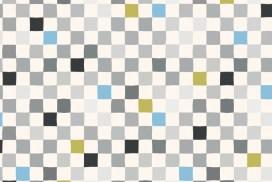 modern quilt in pastel blue