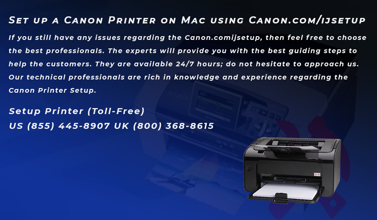 Set up a Canon Printer on Mac using Canon.com/ijsetup   Emu Articles