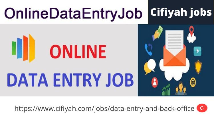 Online data entry jobs-cifiyah.com