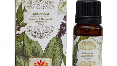 Geranium essential oil for skin