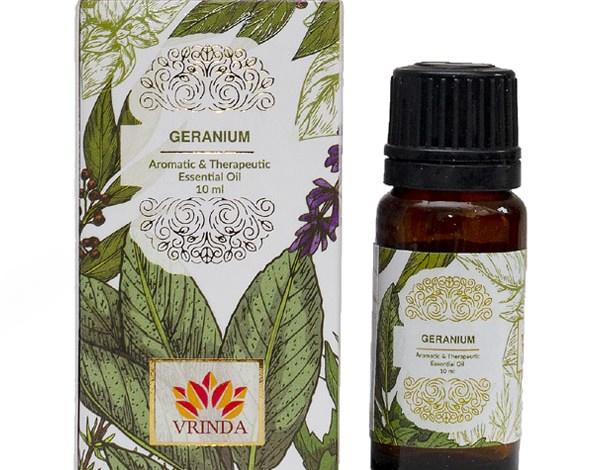 Geranium essential oil for skin