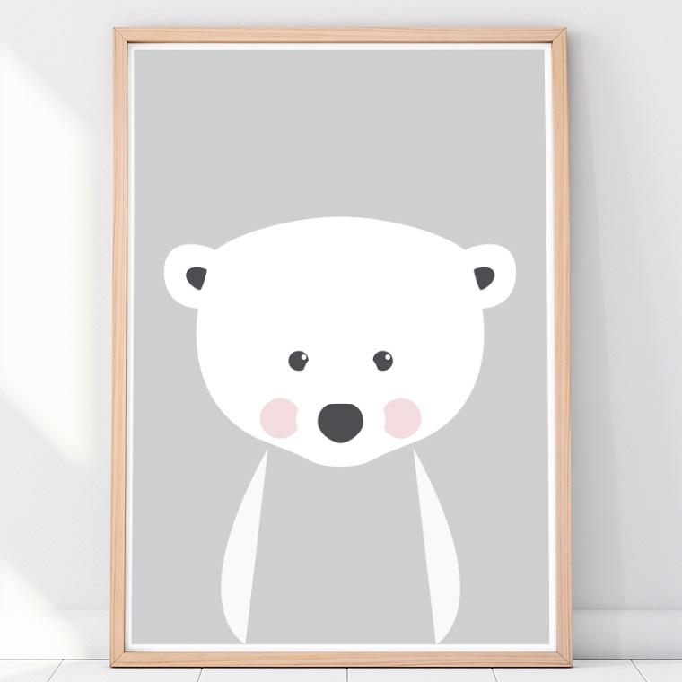 http www emugallery com product nursery animals polar bear poster