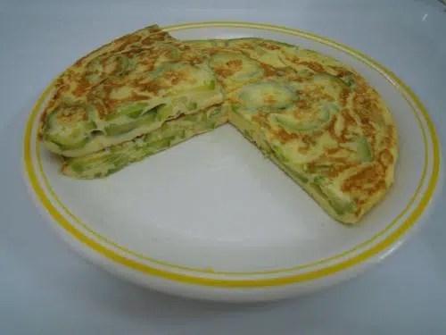 Cenas ligeras: Tortilla de calabacín