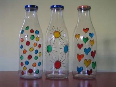 Cómo decorar una botella de vidrio