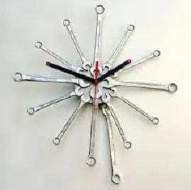 Cómo hacer un reloj con llaves fijas
