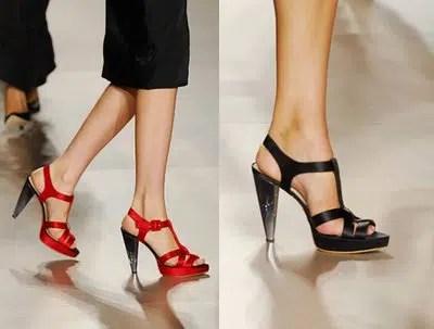 Consejos para el uso de sandalias de tacón alto