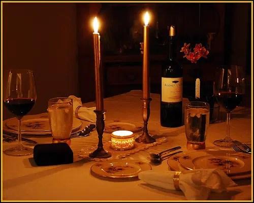 Consejos para lograr una cena romántica de ensueño (Parte I)