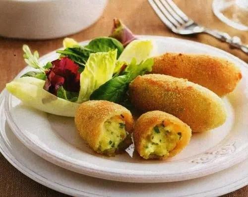 Croquetas de patata a las hierbas