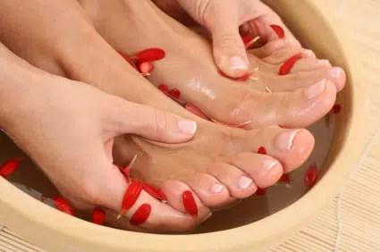 Exfoliación casera para los pies