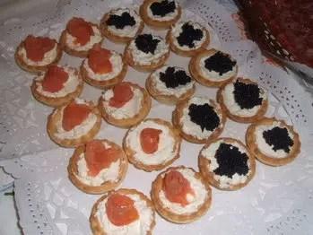 Guarniciones de Navidad: tartaletas de mousse de salmón
