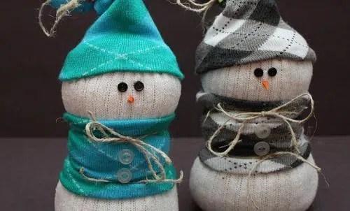 Otro modelo de muñeco de nieve para Navidad