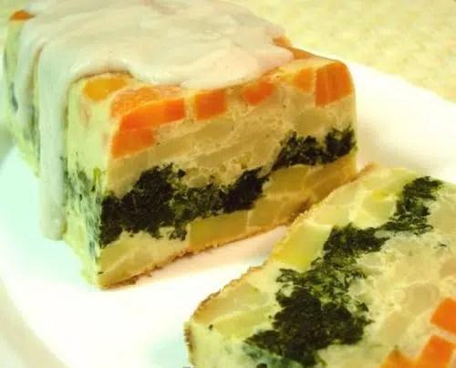 Pastel frío de verduras