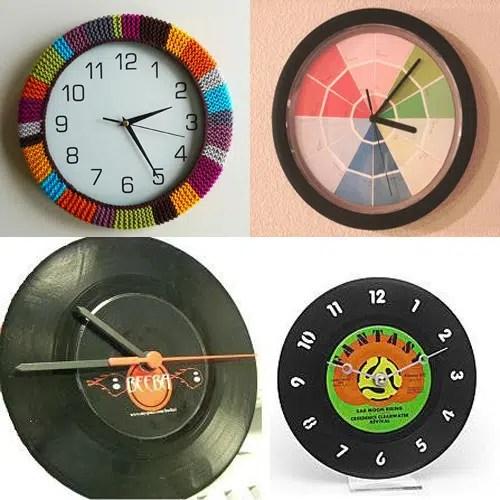Reciclar un reloj de pared deteriorado - Reloj pared cocina ...