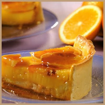 Tarta de naranja glaseada