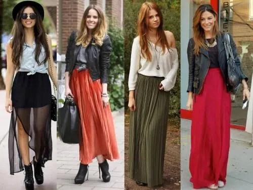 Tendencia: look con faldas largas