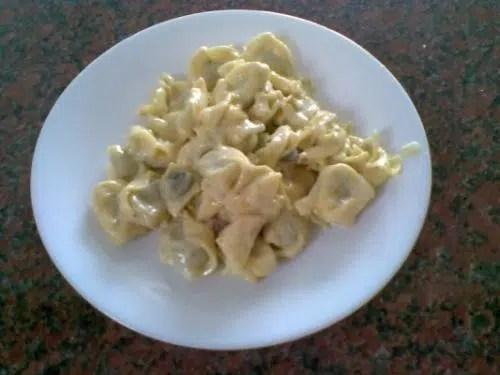Tortellinis al queso