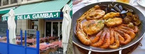 Un restaurante económico y de fama internacional en Barcelona: El Rey de la Gamba