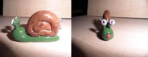 Un simpático llavero con forma de caracol