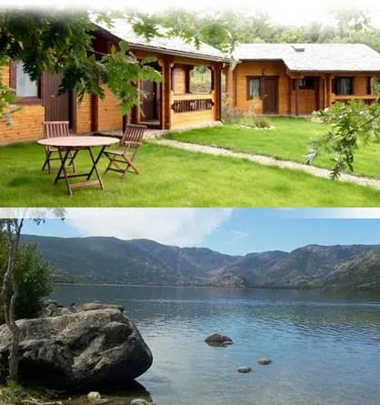 Unas idílicas vacaciones en una cabaña de madera junto al lago