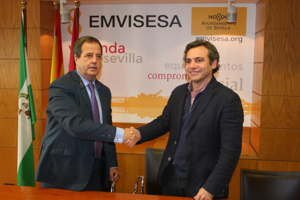 Emvisesa y Sareb firman un convenio para la cesión de 15 viviendas para uso social, en las mismas condiciones de los acuerdos suscritos por Madrid, Barcelona y Málaga.