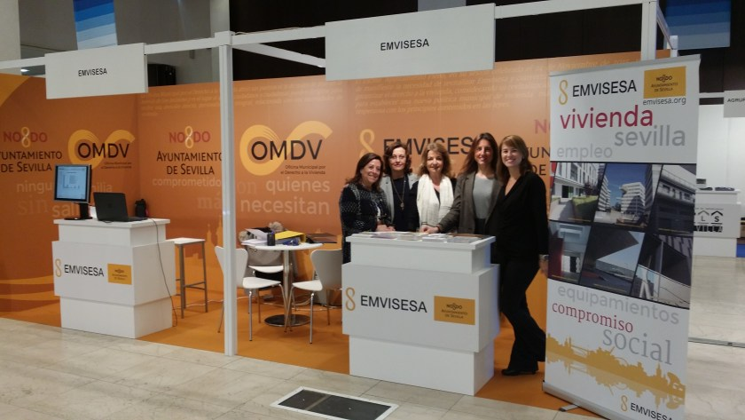 El estand de Emvisesa en Welcome Home con cinco de sus técnicas.