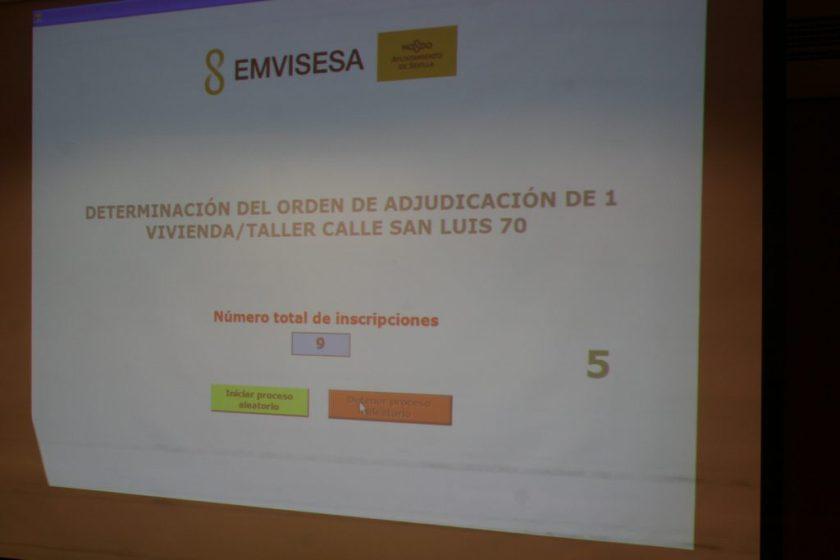 Determinación del orden de adjudicación de 1 viviendas taller en régimen de alquiler.